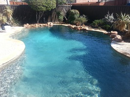 After no algae in clean pool
